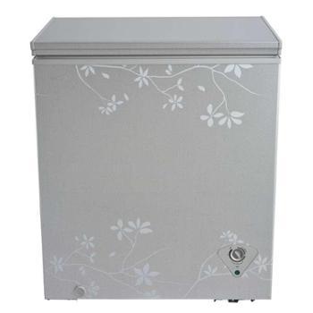美的冷柜BD/BC-145KMQ梅枝暗花 冷藏冷冻随意切换,16KG大冷冻力,断电保护
