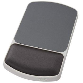 范罗士(FeIlowes)CRC91741尊贵丝质白框鼠标垫(伯爵灰)