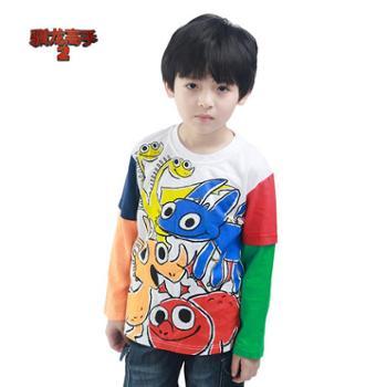Puffy Puppy OAQZ01O07 男童 全棉Q版印花 袖子拼色长袖T恤