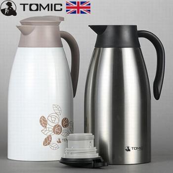 英国TOMIC特美刻双层不锈钢保温壶2.0L1JBS2047