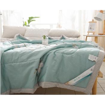 1500g100%里外全棉空调被纯棉夏凉被单双人可水洗薄被子新疆棉花被200*230