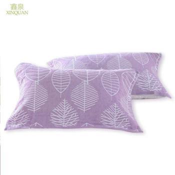包邮双层枕巾纯棉一对装成人枕巾情侣枕头巾纱布枕巾