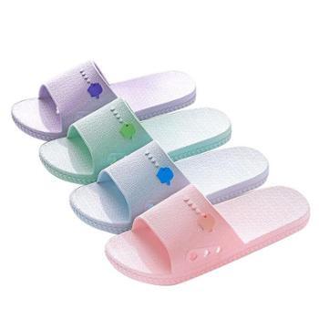 品彩室内家用软底拖鞋浴室洗澡防滑情侣外穿女凉拖鞋男