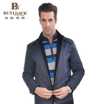 拜邦新款时尚休闲舒适薄棉修身夹克KA17-K53