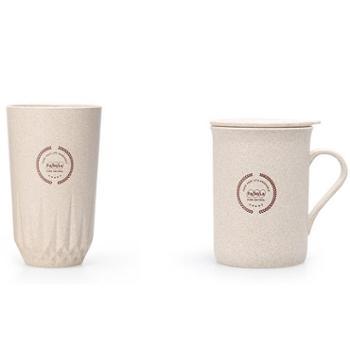 FaSoLa麦纤维马克杯带手柄杯(320ml)麦纤维钻石杯情侣杯杯(2个/400ml)