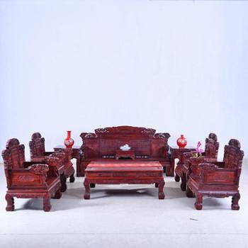 颜家大院 红木家具 小叶红檀沙发11件套 明清仿古
