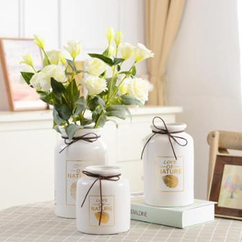 小清新陶瓷圆形花瓶小号1个客厅插花家居装饰现代简约创意摆设摆件