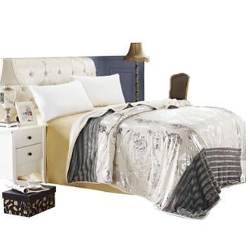 KINTHERI/金丝莉法兰西羊绒被套毯一毯多用休闲午睡毯子