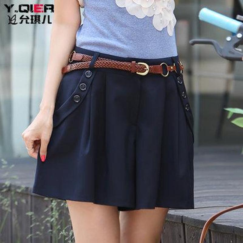 短裤裙休闲 2014夏装新款大码女装 宽松阔腿裤 裙裤韩版