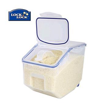 乐扣乐扣米桶米缸10公斤塑料米桶510谷物桶米箱储物箱带轮附米勺防潮防虫乐扣乐扣保鲜盒