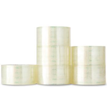 deli得力胶带得力透明胶带1卷装超长150y/100y/60m封箱胶带打包胶带30325
