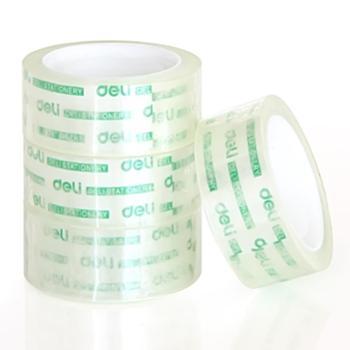 deli得力胶带得力透明胶带1筒装封箱胶带打包胶带学生文具胶带30079