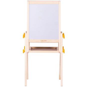deli得力画板 可升降双面儿童画板 支架式磁性写字板 涂鸦小黑板木制学生白板8770