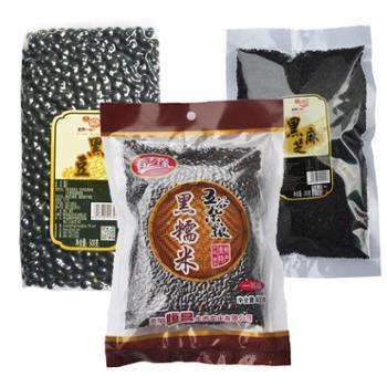 贵阳恒昌 三黑五谷杂粮组合黑糯米*1黑豆*1黑芝麻*1 限地区包邮