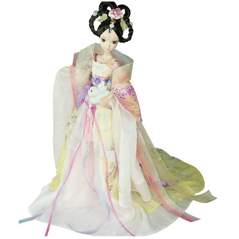 女孩洋娃娃玩具可儿娃娃 古装嫦娥仙子芭比娃娃玩具套装儿童玩具