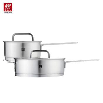 双立人(zwilling) 套装锅具(煎炒锅24cm+单柄炖锅16cm )