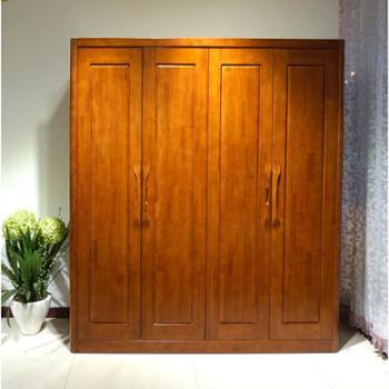 喜泰家具新品上市实木四门衣柜超大储物空间衣柜卧室家具