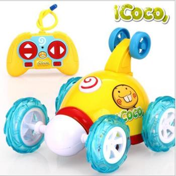益米翻斗车遥控车越野车翻滚特技车遥控汽车儿童玩具车充电动