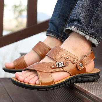 南翔夏季青年透气沙滩鞋休闲皮凉鞋男2211