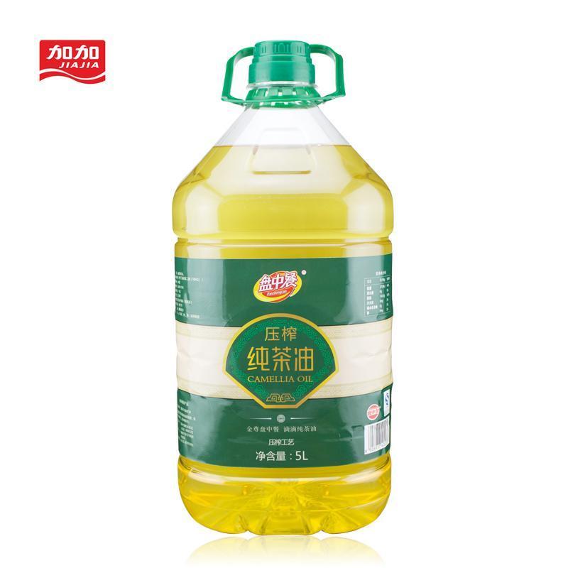 加加盘中餐 压榨纯茶油 5L 非转基因山茶油 低温压榨 纯茶籽油