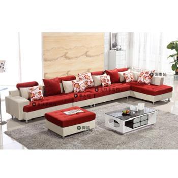 小户型布艺沙发客厅组合 现代简约客厅转角L型沙发 沙发厂家直销