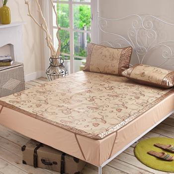 瑞辰特价郁金香冰丝席单双人折叠三件套夏凉席夏季床上用品