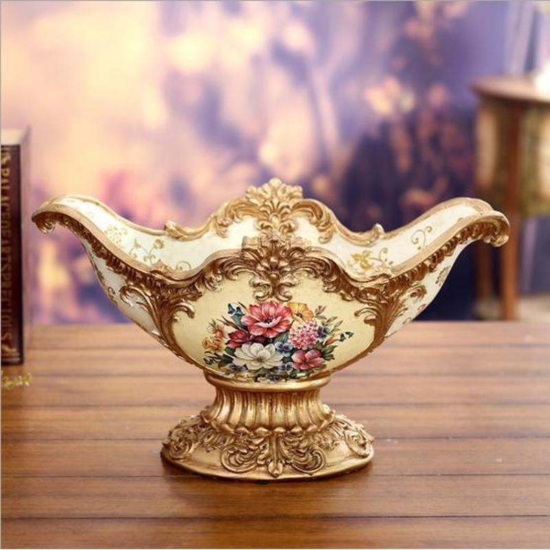 欧式宫廷果盘皇家金色浮雕高脚水果盘陶瓷