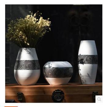 福美林 现代简约欧式陶瓷花瓶三件套 家居装饰品摆设 陶瓷工艺品摆件 单个价格