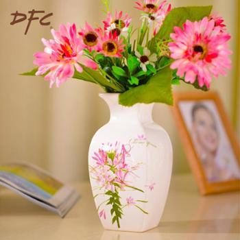 DFC陶瓷小花瓶 欧式创意瓷器 现代时尚家居客厅装饰摆件礼品