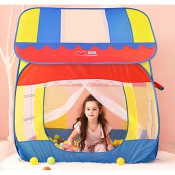 澳乐儿童帐篷游戏屋小孩室内公主房子宝宝爬行隧道海洋球玩具屋
