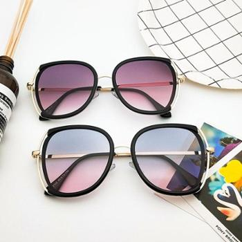 梵妮莎大框透明太阳镜男复古时尚镂空墨镜新款韩版潮个性眼镜防紫外线女F2314