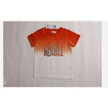夏装新款史努比童装正品2ss40016男童纯棉渐变式针织短袖上衣