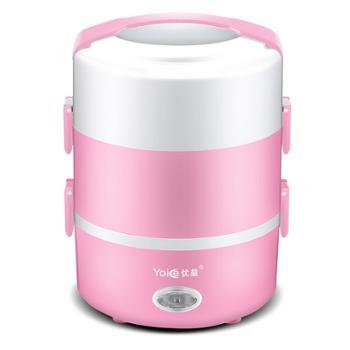 优益电热饭盒双层加热电饭煲蒸菜煮饭保温便携式