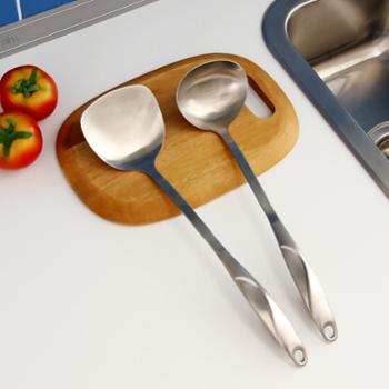 欧润哲304不锈钢厨具套装厨房锅铲汤勺两只装