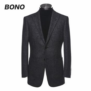 【高级量体定做】BONO男商务时尚修身西服量身定制正装西装单西