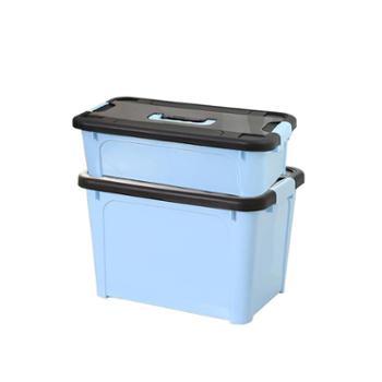 艾多 带盖带提手塑料收纳箱20L/30L 1只装