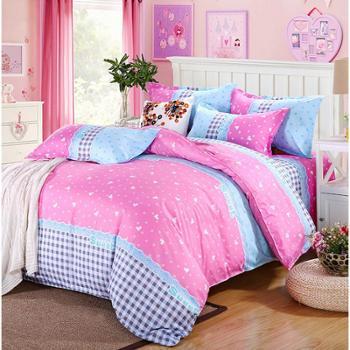 包邮 床上用品芦荟棉棉四件套床单枕套被套被子驰絮家纺纺织品床品套件