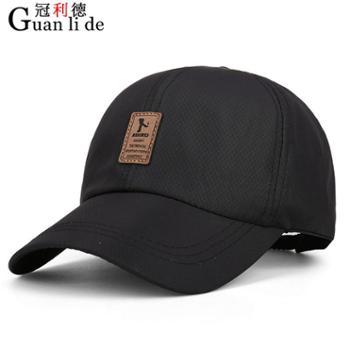 新款韩版春天男士棒球帽鸭舌帽夏季帽子户外休闲遮阳防晒帽*
