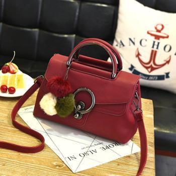 女包2017新款包包女韩版定型拉链时尚女包斜挎单肩手提包