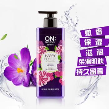 【进口包邮】韩国进口LG ON THE BODY 香水沐浴露 500ML