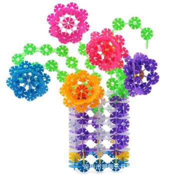 袋装100片雪花片大号加厚带数字图纸儿童益智拼装拼插积木玩具