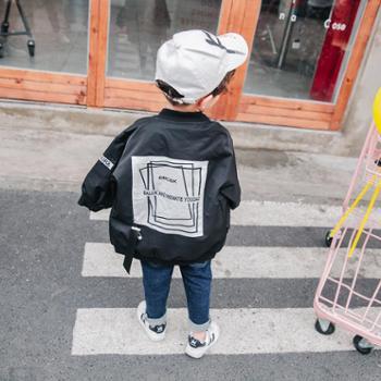 儿童加棉外套2018秋冬季新款男童夹克衫中长款宝宝拉链潮