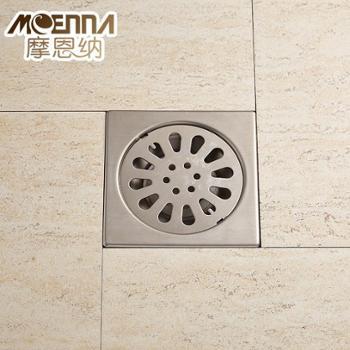 不锈钢304地漏 卫生间洗衣机下水道防臭淋浴房地漏拉丝