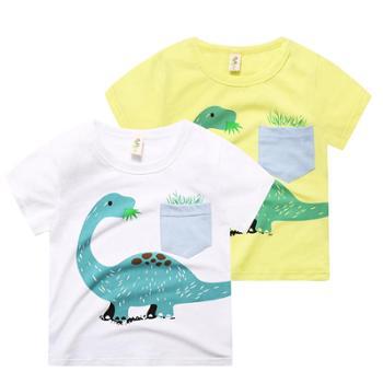 儿童T恤男童潮2018夏款新品韩版卡通短袖百搭纯棉舒适中小童童装