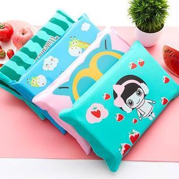 (日常居家生活用品)T卡通冰枕冰垫午睡充水凉枕儿童降温冰枕头汽车冰靠背枕头