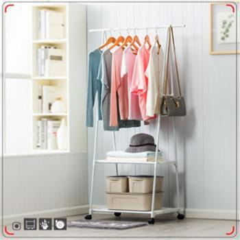 (日常居家生活用品)简易衣帽架可移动挂衣架家用卧室衣架落地衣服架三角衣帽架