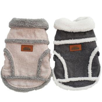 秋冬季宠物衣服北欧棉绒加厚狗衣服北欧夹克保暖两腿宠物服装
