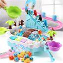 童玩具钓鱼池 充电动爬楼梯1-2-3-4周岁宝宝益智戏水玩具鱼磁性