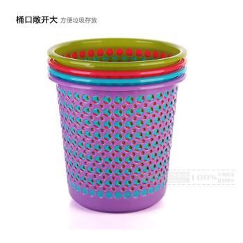 东林塑料垃圾桶纸篓4色可选303