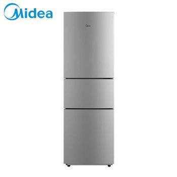美的/Midea电冰箱BCD-210TM(ZG)浅灰色三门小型家用210升